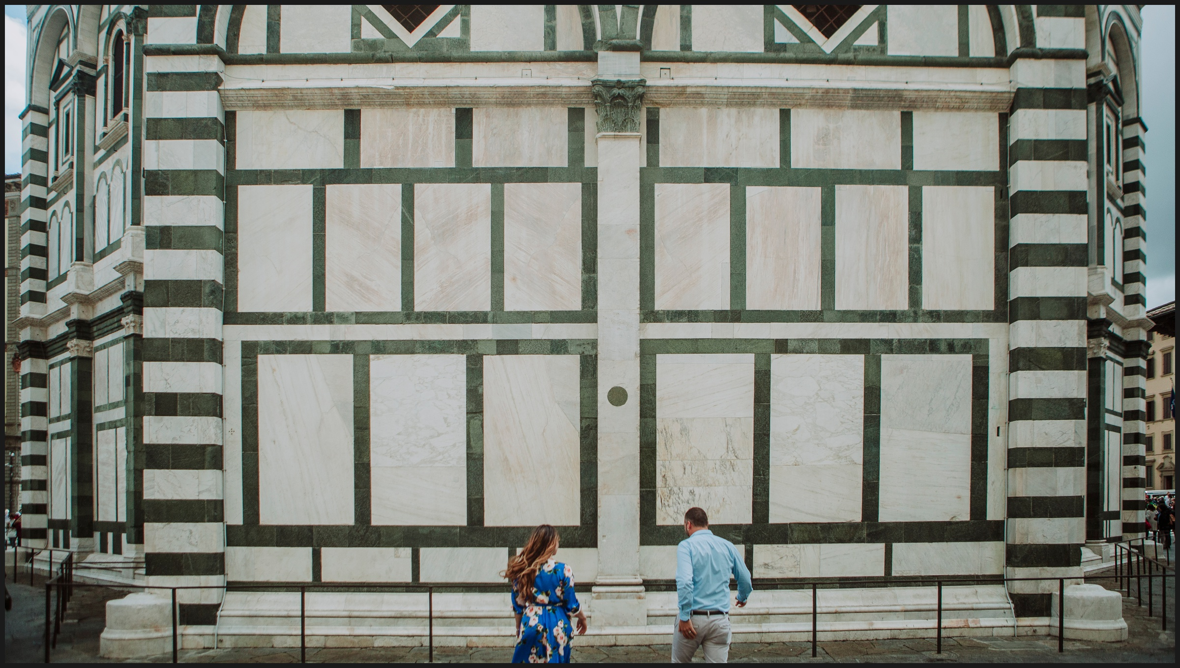 in front of Battistero, Florence