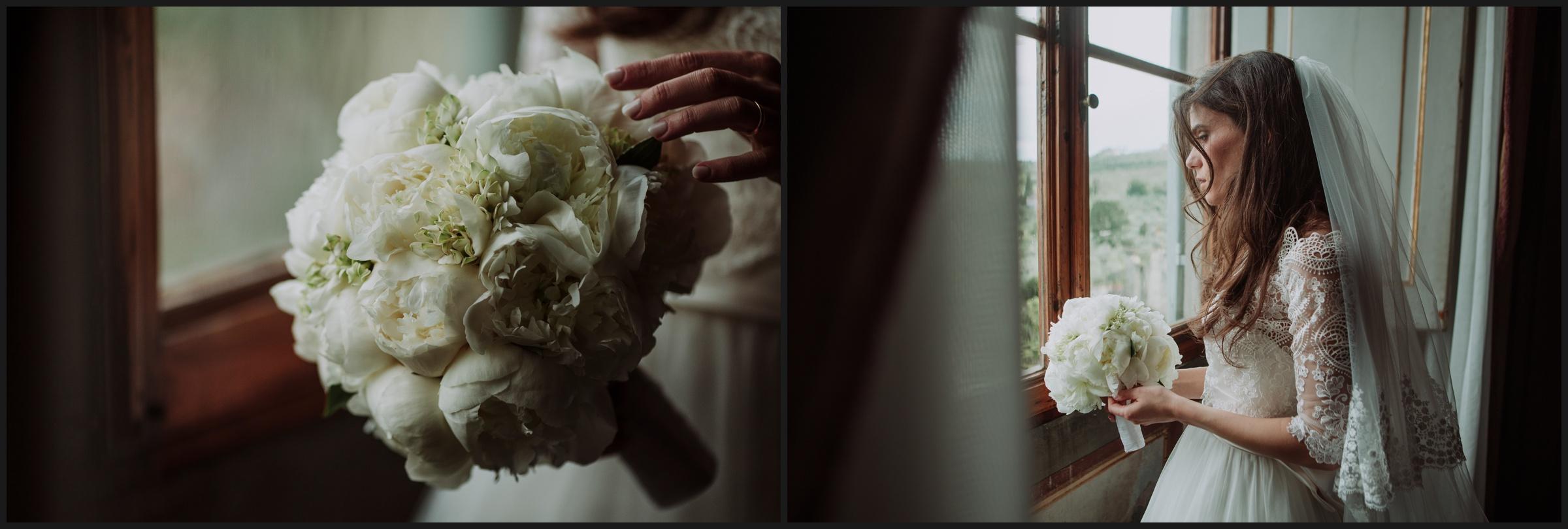 bride portrait and flower details