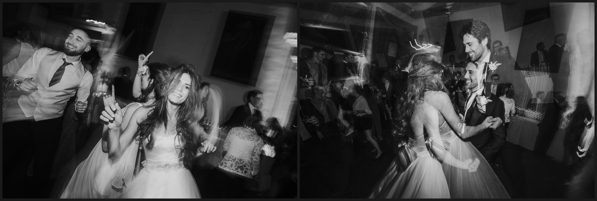 bride and groom, wedding party