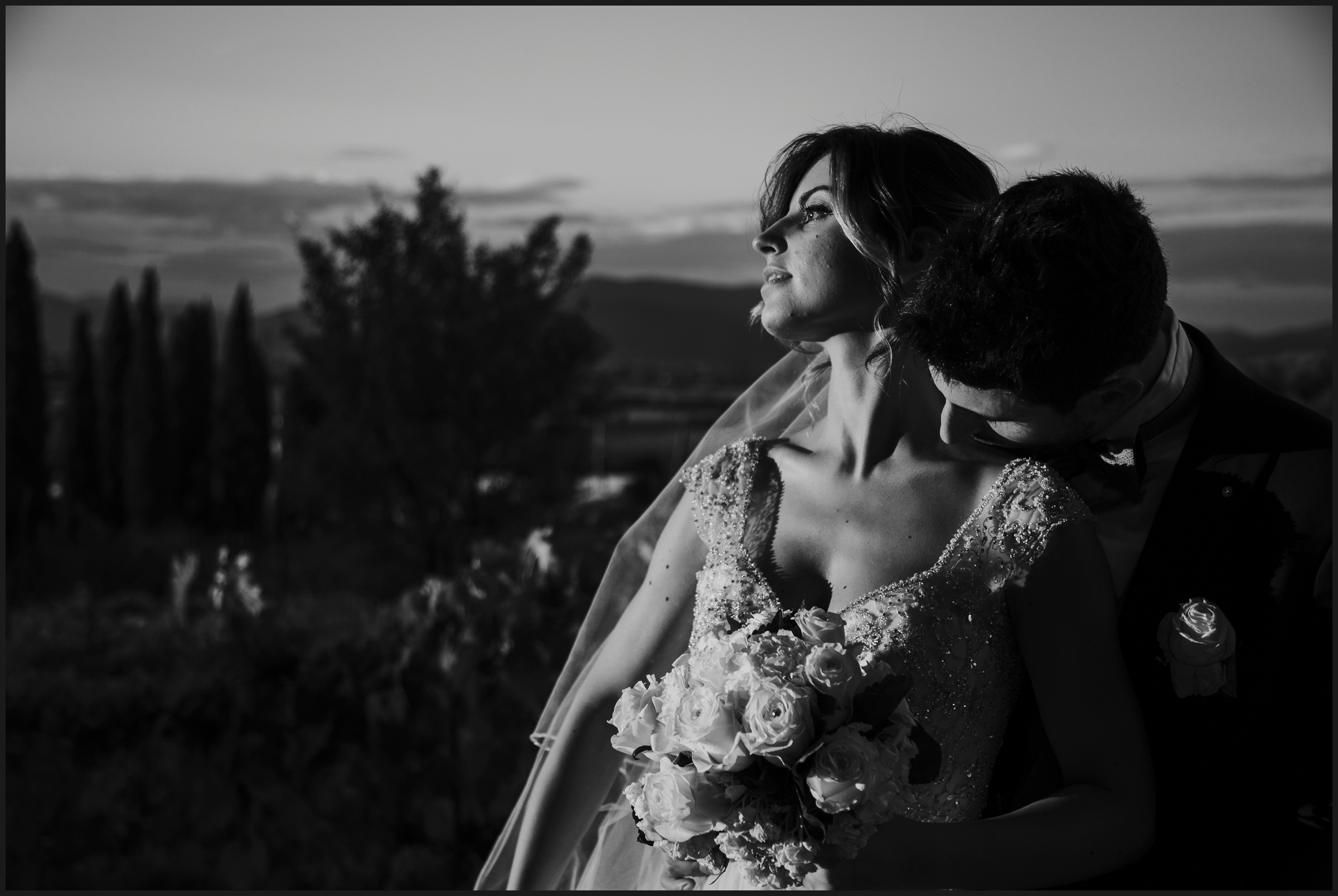 black and white pictures wedding in florence